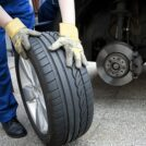 Close up shot of a tire